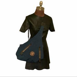 Kipling blue sling backpack